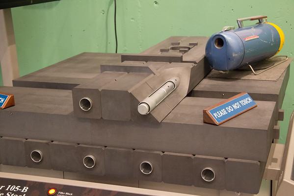 Graphite blocks and aluminum process tubes.