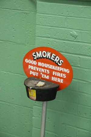 Break room ashtray